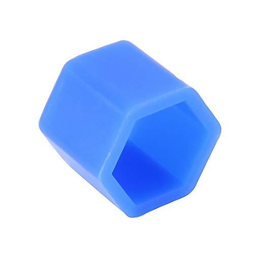 ZAORUN Autoteile 20 Stück Silikon leuchtende Auto Radkappe (blau)