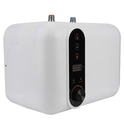 Mini Scaldabagno Elettrico con Serbatoio da 10 L per uso Domestico 21.5x32.5x23.5 cm Scaldabagno ad Accumulo con Funzione di Conservazione del Calore(10L)