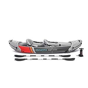 Intex 68310VM Dakota K2 Kayak inflable de vinilo resistente para 2 personas con remos de 86 pulgadas y bomba de aire… 3