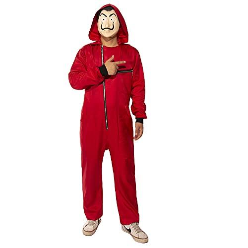 VVDCOS CASA Déguisement Combinaison De Papel Costume Homme pour Le Carnaval et l'Halloween