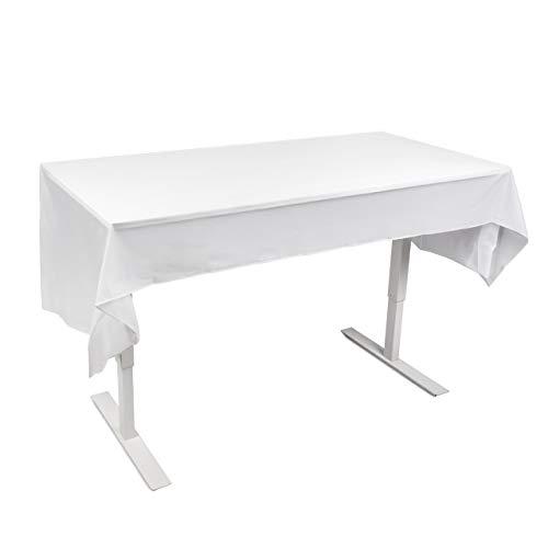 6 Mantel de Plástico Desechable Semi-Transparente (275x135cm) | Rectangular Mantel Mesa Blanco Impermeable