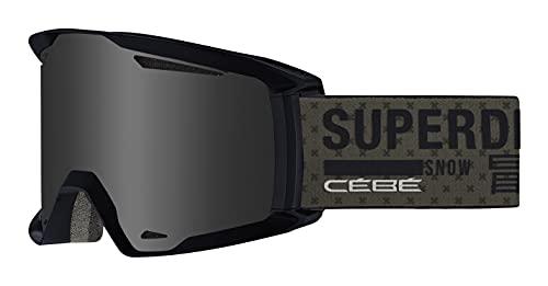 Cébé Reference x Superdry Gafa de esquí, Unisex-Adult, Dusty Olive Matte, Large
