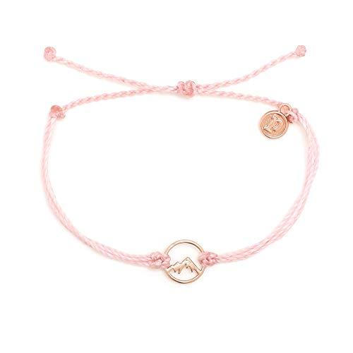 Pura Vida Rose Gold Sierra Bracelet - Waterproof, Artisan Handmade, Adjustable, Threaded, Fashion Jewelry for Girls/Women 5 inches