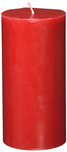 Zest Candle Pillar Candle, 3 by 6-Inch, Red