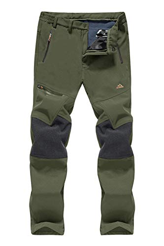 Hiking Pants Men Ski Pants Men Water Resistant Pants Windproof Pants Softshell Pants Fleece Lined Pants Winter Hunting Pants for Men