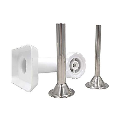 Dibiao 2 Unids/Set Fabricante de Salchichas de Acero Inoxidable - Tubos para Embutidos Kit de Embudo Molinillo de Alimentos Accesorio Herramienta de Cocina