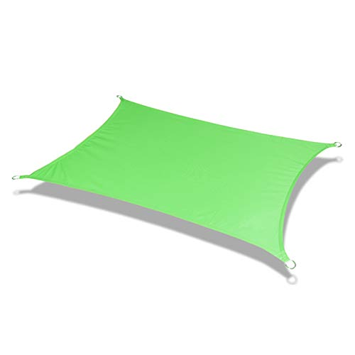 SHRMBS147 Toldo Vela de Sombra Rectangular Tasa de sombreado 95% toldo Resistente y Transpirable Impermeable a Prueba de Viento protección UV para Exteriores Patio jardín pérgola Patio,Gris (2×3m)