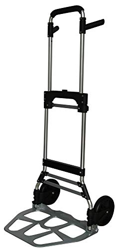 Pora ✅ Sackkarre Klappkarre Transport-Handkarre kompakt & robust - Max. 120 kg klappbar faltbar Alu Sackkarre
