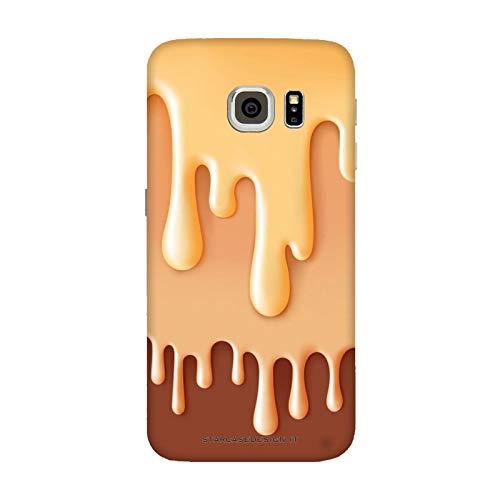 Generico Cover Samsung Galaxy S7 Edge Cibo Food Gelato al Cioccolato/Custodia Stampa Anche sui Lati/Case Anticaduta Antiscivolo AntiGraffio Antiurto Protettiva Rigida