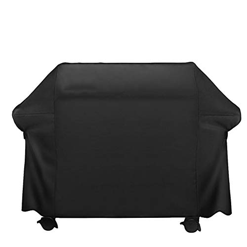 FCZBHT Couverture de Meubles De Plein Air Polyester Couverture De Barbecue, Étanche À La Poussière Imperméable Crème Solaire Garde poussière (Couleur : Noir, Taille : 147 * 60 * 121cm)