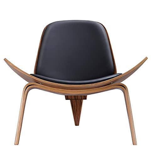 SHUJINGNCE Replica Black Palisander Lounge Shell Silla Nordic Creative Simple Designer Solidero Silla Silla Silla Silla Avión