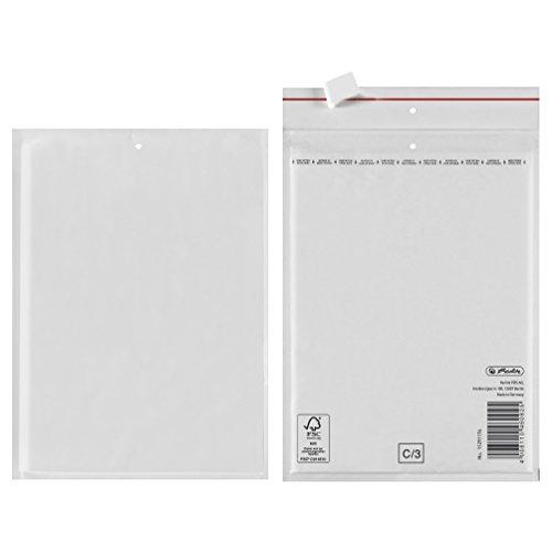 Herlitz Luftpolstertasche C/3, PE-Innenfolie, 4-er Packung, eingeschweißt, 15 x 21 cm, weiß
