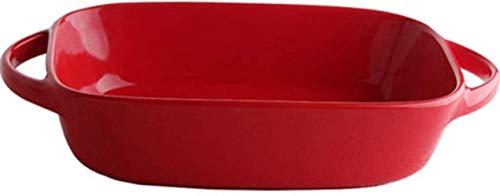 Kom bakkom creatieve huishouden oren rood bakken bakplaat oven hoge temperatuur keramische kom kom rechthoekige kaas rijstkom