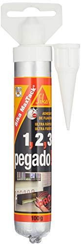Sikabond 115 Adhesivo de montaje con fuerte agarre para pegado de materiales, Blanco, 100 g
