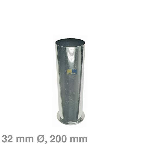 LUTH Premium Profi Onderdelen Verstelbare buis 32mm 200mm chroom voor 1 1/4