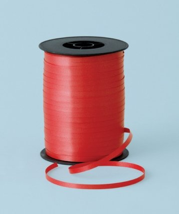 Curling Party Ribbon Red