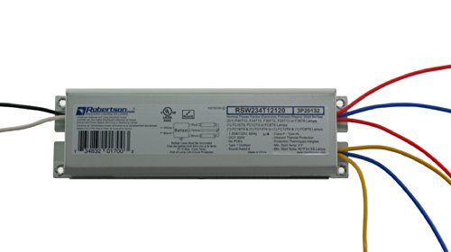 Robertson 3P20132 Fluorescent eBallast for 2 F40T12 Linear Lamps, Preheat- Rapid Start, 120Vac, 50-60Hz, Normal Ballast Factor, NPF, Model RSW234T12120 /A (Crosses to 3P20010 Model RSW240T12120 /B)