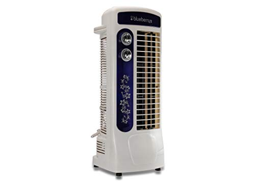 Blueberry's Max RPM 1350, Heavy Duty Motor, Air Throw Distance 25 FT, 3 Speed, Oscillation Type Winter La Delux Tower Fan (Multicolor)