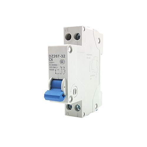LUOXUEFEI Disyuntor Diferencial Interruptor 1P N 6A 10A 16A 20A 25A 32A 63A Disyuntor Capacidad De Ruptura 4.5Ka