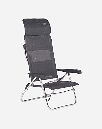 Crespo Camping Stuhl AL 223 Compact Garten Liege Stuhl Klappstuhl Klappbar Alu Dunkelgrau