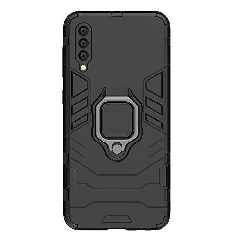 SsHhUu Funda Samsung Galaxy A50, Anillo Giratorio de 360 Grados Apoyo Montaje de Coche Magnético Antiurto Anti-caduta Funda para Samsung Galaxy A50 2019 / SM-A505F/DS/SM-A505FN/DS (6.4