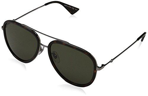 Gucci Damer GG0062S 002 solglasögon, grå (ruthenium/grön), 57