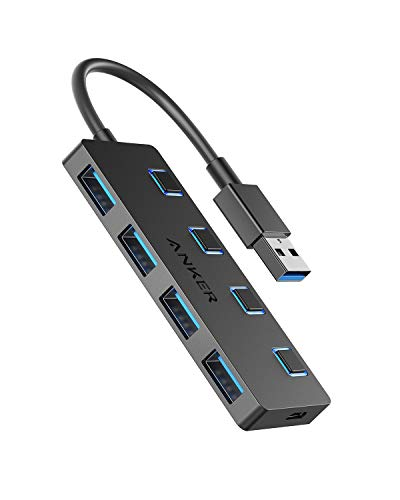 Anker 4-Port USB 3.0 Datenhub, mit individuellem Schalter pro Port, für MacBook, Mac Pro/Mini, iMac, Surface Pro, XPS, Notebook PC, USB Flash Drives, Mobile HDD und mehr