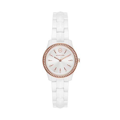 Michael Kors Damen Analog Quarz Uhr mit Keramik Armband MK6840