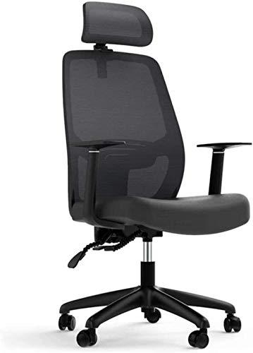 PANGPANGDEDIAN Sedia da Ufficio Sedia da Ufficio ergonomica con poggiatesta Regolabile, bracciolo e Supporto Lombare Sedia da Ufficio a Maglia Posteriore Alto Poltrona