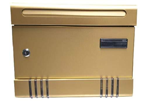 Cassetta postale in alluminio anodizzato cm 36,5x6,5x29 h Cassetta della posta buca lettere per esterno Portalettere Credit Secret