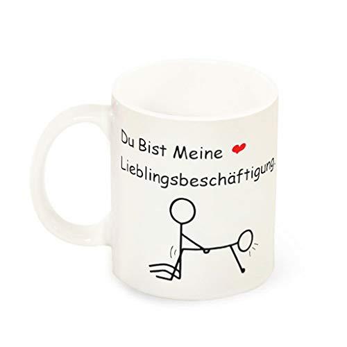 O5KFD&8 11 OZ Du bist Meine Lieblingsbeschäftigung Kaffeetasse Glatte Keramik Retro Mug - Lustige Hochzeits-Geschenke Jungen Männer Geschenke (Beidseitig Bedrucken) White 330ml