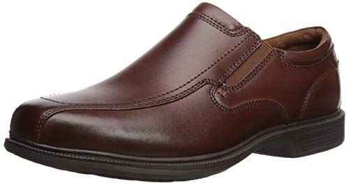 Nunn Bush Men's  Bleeker Street Slip On Loafer with KORE Slip Resistant Comfort Technology, Cognac, 11 Wide US