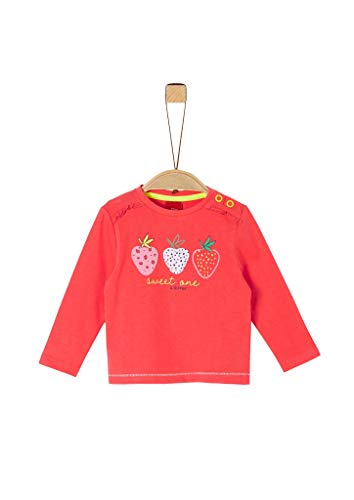 s.Oliver Junior Baby-Mädchen 405.10.004.12.130.2021448 T-Shirt, Rot (3108 red), 86 EU