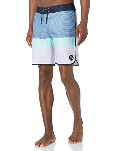Quiksilver Men's Surfsilk Stretch 19 Inch Boardshort Swim Trunk, Purple Heather EQYBS04531, 31