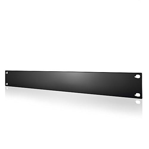 AC Infinity Rack Panel Accessory Blank 1U Space for 19' Rackmount, Heavy-Duty 3mm Gauge Steel, Black