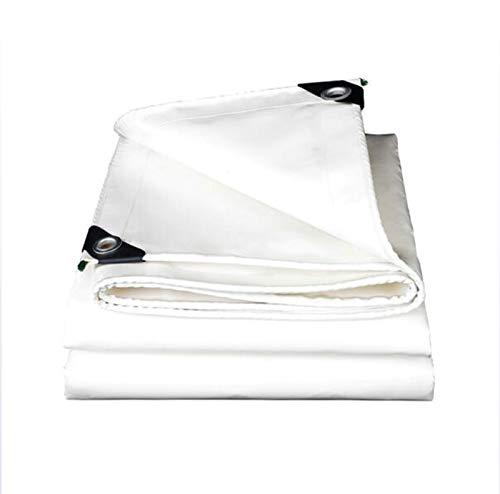 Home warehouse Tela gruesa para raspar cuchillos de color blanco, resistente al sol y a la lluvia, lona de lona, aislamiento térmico Oxford lona, toldo, 4 x 5 m