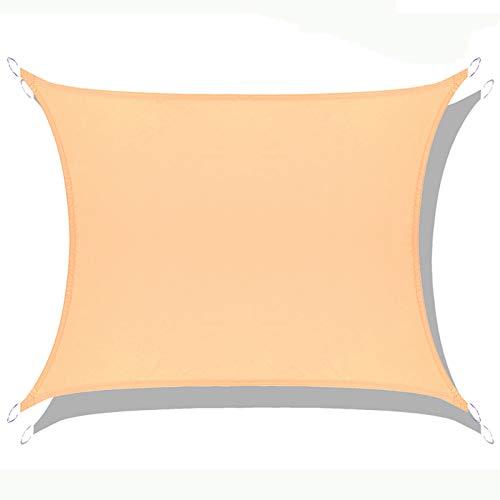 LOVE STORY Toldo Vela de Sombra Impermeable(PES) Rectangular 2×3m Arena Protección UV para Terraza Camping Jardín al Aire Libre