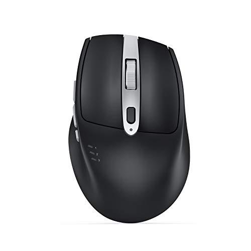 Seenda Wireless Bluetooth Mouse(BT5.0+BT5.0+2.4 GHz), Rechargeable Wireless...