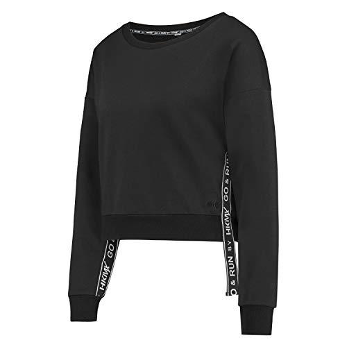 HUNKEMÖLLER HKMX Cropped Sweater Schwarz M