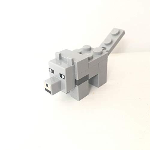 maisterkaio-de Lego Figur Wolf -- Minecraft -- (aus Set 21162, kompatibel mit Anderen Lego)
