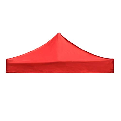 IDWOI Gazebo-Überdachung Dach Ersatz Deckel Markise Sun Shelter Wasserdichtes Garten-Zelt Marquee Markt, Shade Polen Ist Nicht Enthalten (Color : Red, Size : 2.9x2.9m)