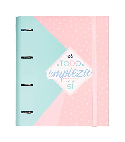 Carpeta 4 anillas troquelada premium Amelie pastel collection