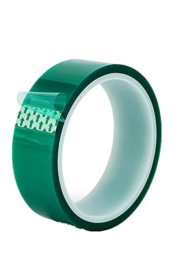 shuaike 33 M Green PET Tape,Heat-resis tant PET High Temperature Masking Shielding Tape, Id eal for Painting Powder Coating Anodizing Circuit Boards 3D Printer (Size : 20mm*33m)