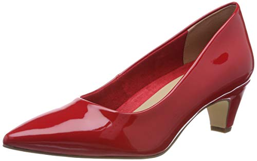 Tamaris Damen 1-1-22428-22 520 Pumps, Rot (Chili Patent 520), 38 EU