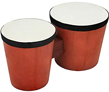 Click N Play Percussion Bongo Drum Set for Kids & Beginners Wooden Base & Natural Rabbit Skin Heads Acoustic On Shell 5 -6 CNP3733