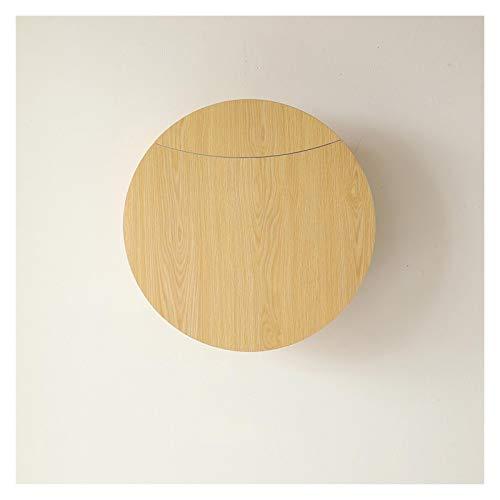 GHHZZQ Mesa de Pared Escritorio de Pared Multifunción Mesa de Comedor Plegable Estante de Rack de Almacenamiento por Cuarto Baño Cocina (Color : A, Size : 60x60cm)