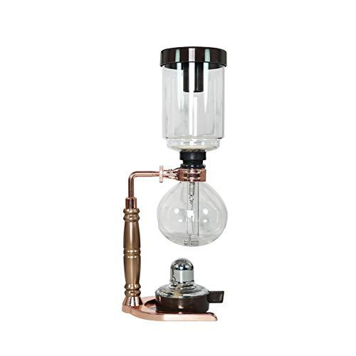 ASDQWER Stil Syphon Kaffeemaschine, Syphon Kaffeekanne, Resistant Glas, Tee Syphon Topf, Syphon Artisanal Kaffeemaschine, Kaffeemaschine Filter für Home Küchen Verwenden,5