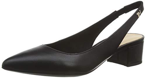 Tommy Hilfiger Damen Feminine Leather MID Heel Pump Pumps, Schwarz (Black Bds), 40 EU