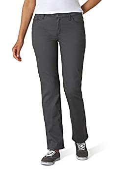 Lee Women s Relaxed Fit Straight-Leg Jean Charcoal 14 Short
