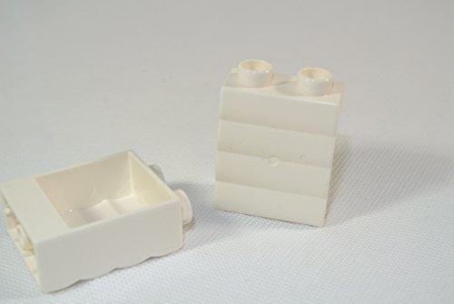 2 Mauersteine, 2x1x2, weiß (Lego Duplo Custom Set)